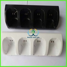 4 Charger Charging Dock Station+4 Battery Packs For Nintendo Wii Remote Controller