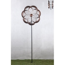 Garden Stake Rotating Metal Wind Spinner <strong>windmill</strong> for outdoor