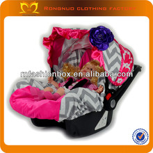 New cheap baby car seat covers with flower tie dye car seat covers grey chevron and hot pink baby car seat cover