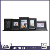 Distressed Finish Table-top Stand Wooden Picture Photo 5 Opening Multi Collage Frame