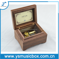 Square wooden music box with golden music box wedding favors music box