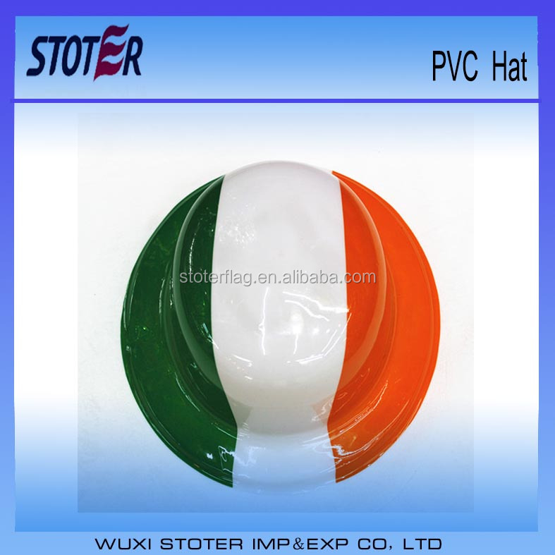 Ireland flag football fan pvc hat