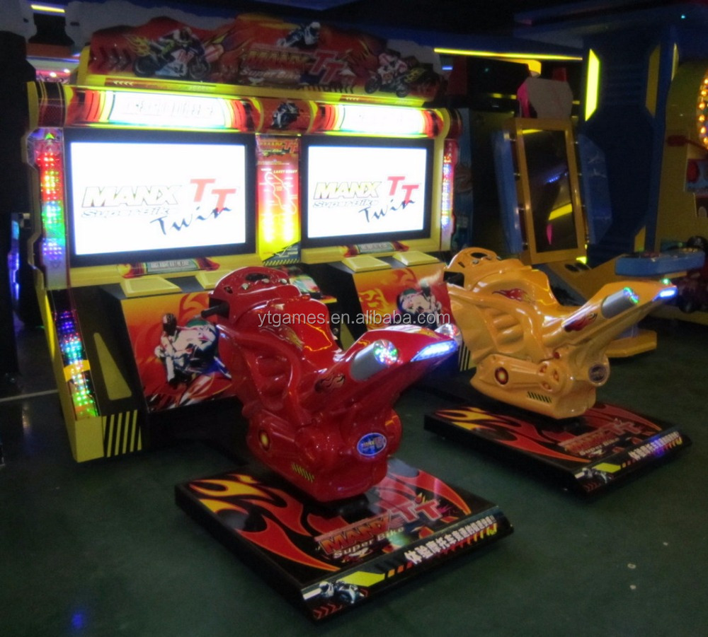 coin operated video game machine arcade motorcycle racing simulator