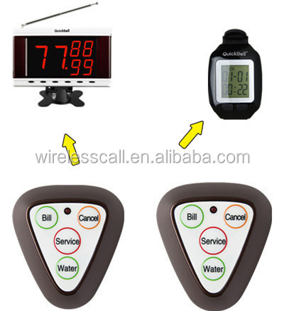 Manufacturer of table calling button , buzzer pager, wireless restaurant waiter wrist watch pager