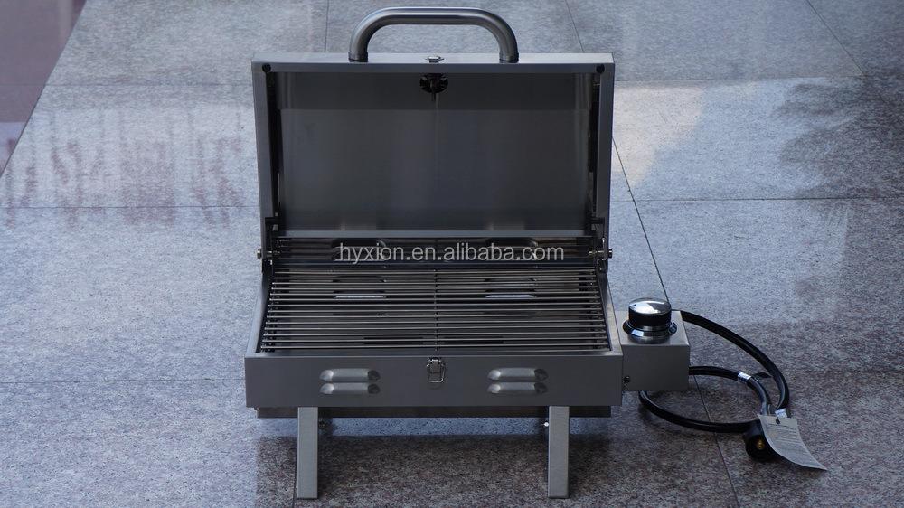 Sin humo hyxion de acero profesional acampar barbacoa parrilla de gas con asador parrillas de - Barbacoa sin humo ...