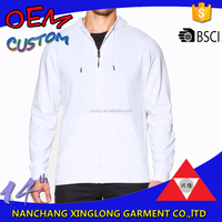 OEM cheap white blank customized zipper lightweight hoodie sweatshirt manufacturer
