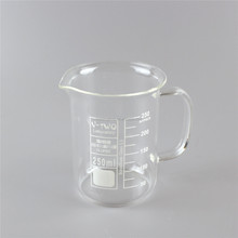 beaker low form, with handle, Boro3.3