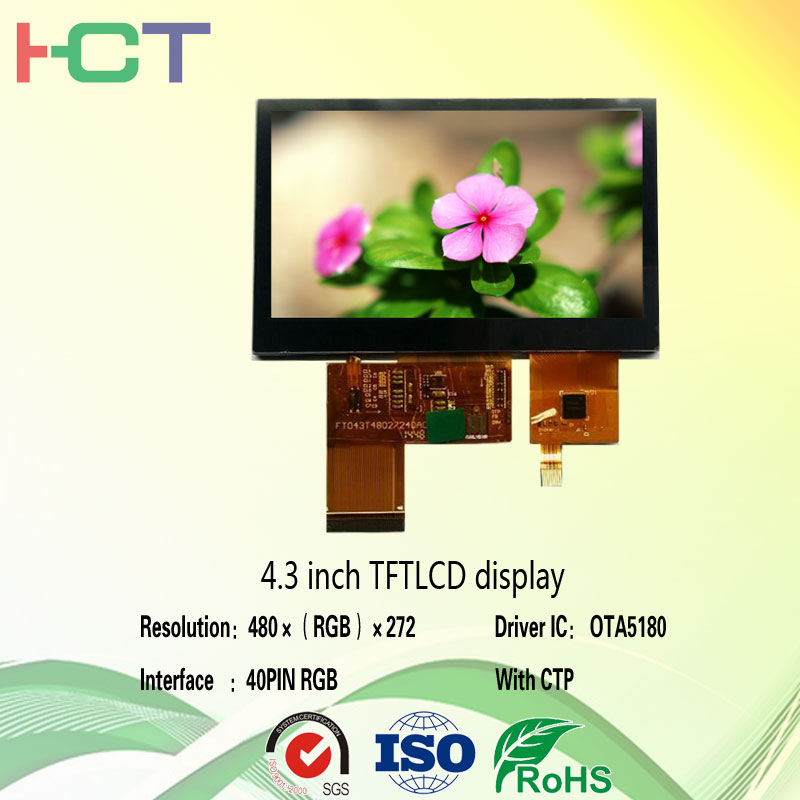 4.3 Inch TFT LCD module with CTP