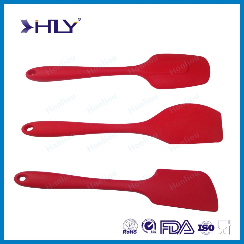 New design FDA LFGB standard silicon spatula/silicone christmas spatula for kitchen