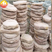 Natural Pink Round Paving Stone For Landscaping