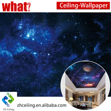Customized Size Waterproof Mordern Pop PVC Ceiling Designs for Bedroom Outer Space UV Print PVC 3D PVC Stretch Ceiling