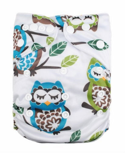 Baby 4pcs Pack Fitted Pocket Cloth Diaper with 2 Inserts
