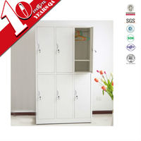 6 doors 2 tiers steel clothes cabinet locker for gym/school/apartment/hospital