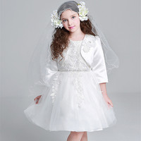 lace dresses wholesale fancy cheap kids princess wedding dresses