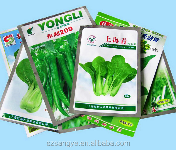 foil seeds plastic seeds packaging bags/vegetable seeds bags for agricultural