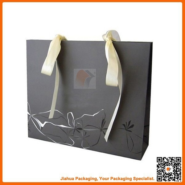 black ribbon tie gift bags