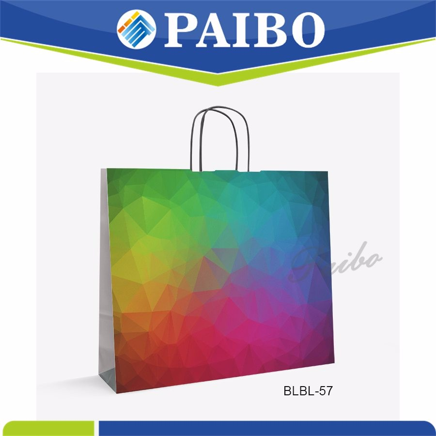 BLBL-57 Hot sale fancy shopping paper bag for leather goods