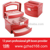 2013 Hot-sell Luxury Makeup Case with Three Drawers Wholesale(HSD-3053)