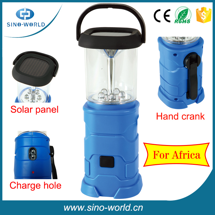 Portable&Rechargeable Small Outdoor Hanging Lanterns/LED Solar Camping Lantern /LED Camping Lantern +Hand Crank Charging+USB Ad
