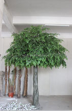 Factory price artificial banyan tree with evergreen leaves