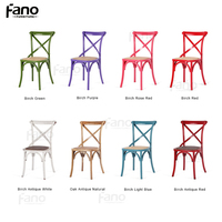 wholesale high quality x cross back dining chair colorful tuscan crossback chair