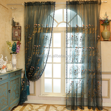 New Arrival Upscale Floral Embroidery Thread Sheer Curtain for Living Room