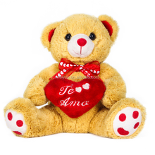High Quality Stuffed Toy Yellow Teddy Bear with Heart / Valentine's Bear