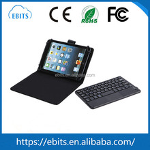 Universal wireless bluetooth tablet keyboard with leather case for tablet pc