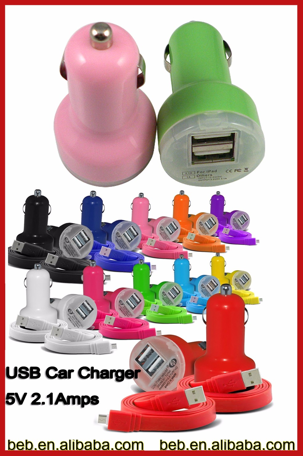 Manufacture 5v 2100ma car charger usb for iphone 6 plus