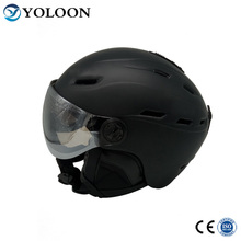 2018 latest black adult and youth in-mold ski helmet with visor