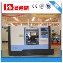 "Cheap cnc lathe for seal CKX400L slant bed cnc lathe machine tools 8 station tool turret 8"" 3 jaw hydraulic chuck"