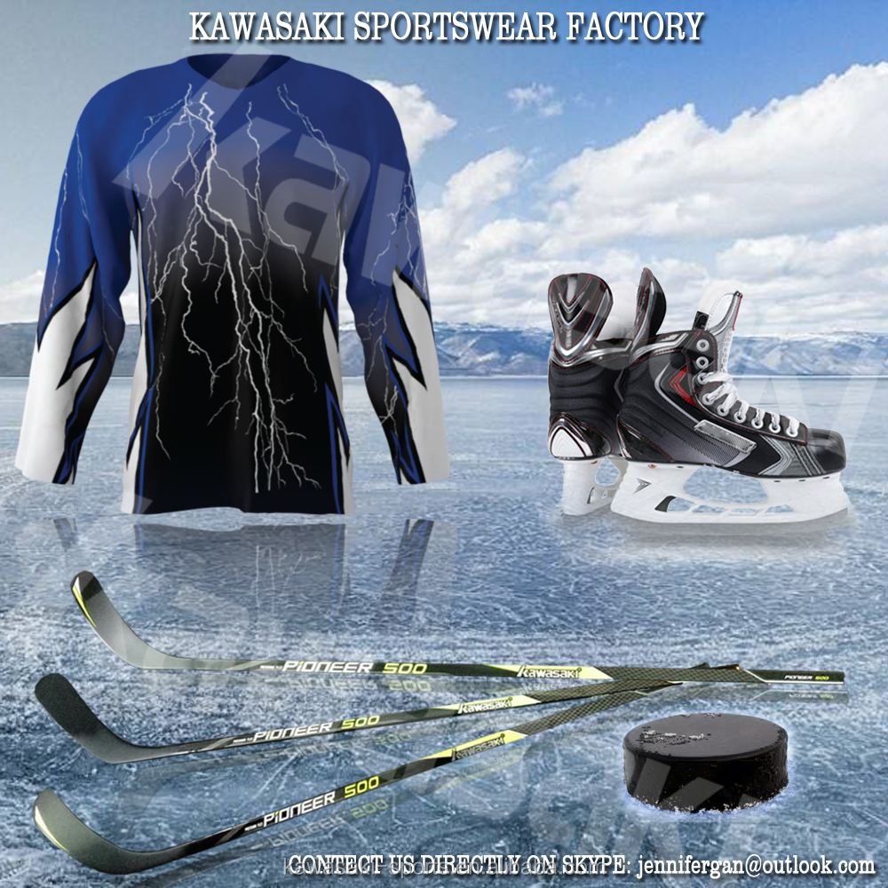 China manufacturer custom reversible sublimated ice hockey jerseys