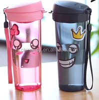 400ml colorful plastic drinking cup for tea