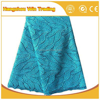 Nigeria cord sky blue laces textile and fabrics asian lace material for women dress african