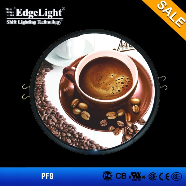 New ps led poster frame round products lighting picture frame display