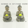 2/s resin small buddha candle holder for home garden use