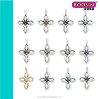 Fashion Silver Plated wholesale Crystal Birthstone Boy and Girl charms for Jewelry