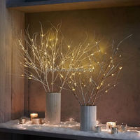 Led warm white decorative tree branch lights/led christmas tree branch for desk decoration