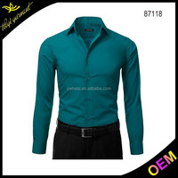 Top quality solid color hawaiian men shirts