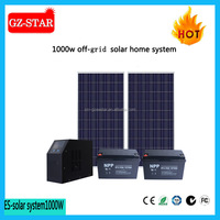 off grid home using or office using system 220/110vac 1000w solar panel kit