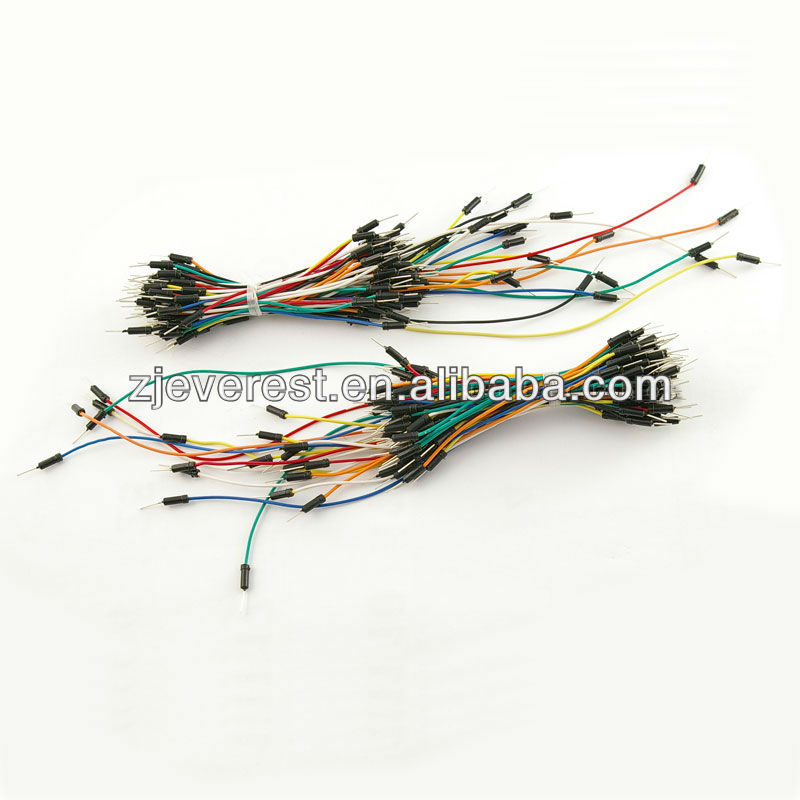 65pcs Multi-Color Mini Mixed Solderless Breadboard Cable Flexible Jumper Wires