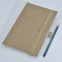 cheap school office use embossed logo Pu elastic strap notebook A5 B6 diary wiring memopaper pocket