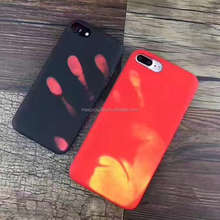 Newest Fashionable Heat Sensitive Induction Discoloration Color Change Pu Leather Mobile Phone Case For iPhone 6 7 7plus