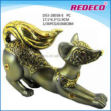 Polyresin fox figurine