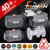High pressure water ball valve two way with limit switch electric solenoid actuator