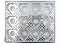 rectangular shape disaposable wholesale food use clear plastic serving tray for cookie