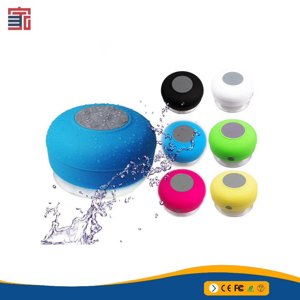 2017 hot sale portable waterproof stereo shower Bluetooth Speaker with a big sucker