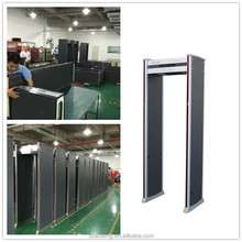 6 zones Walkthrough Metal Detector with Four LED light bars on both door panels,walk-through metal detector, Model No:AT-300