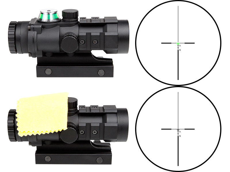 OEM Rifle Scope 3x32 Gun Scope Red Optical Fiber 3 Additional Accessory Rails Gun Accessories Hunting Prism Scopes
