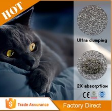 [Kind Pet]2X absorption bentonite clay cat litter sand, pet shop promotional cat litter bulk